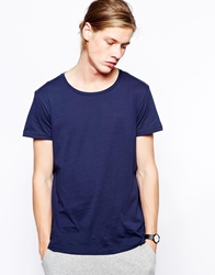 Weekday T Shirt In Marl Navy