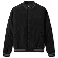 Stussy Stock Varsity Jacket Black