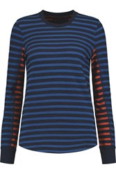 Marc By Marc Jacobs Striped Cotton Jersey Top Blue