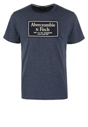 Abercrombie And Fitch Heritage Tech Muscle Fit Print Tshirt Blue Abercromie Dark Blue