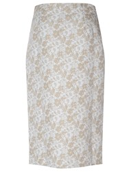True Decadence Front Slit Midi Skirt White