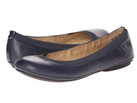 Bandolino Edition Navy Leather Women's Flat Shoes Blue