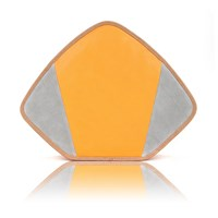 Feather M Friday Clutch Yellow And Grey Grey Yellow Orange
