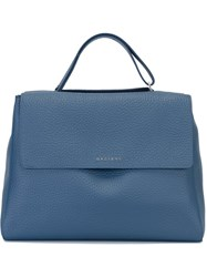 Orciani Satchel Tote Bag Blue