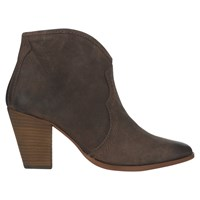 Jigsaw Cara Block Heeled Ankle Boots Chocolate Suede