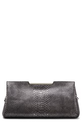 Vince Camuto 'Belle' Snake Embossed Leather Clutch