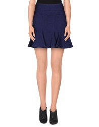 Axara Paris Knee Length Skirts Blue