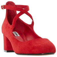 Dune Ani Cross Strap Court Shoes Red