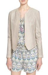 Women's Tory Burch 'Nicki' Perforated Leather Jacket