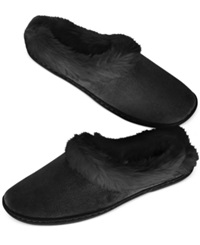 Charter Club Microvelour Clog Memory Foam Slippers Only At Macy's Black