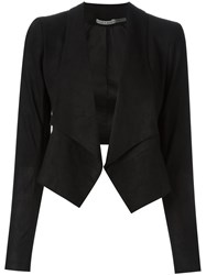 Alice Olivia Open Front Jacket Black