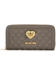 Love Moschino Quilted Continental Wallet Grey