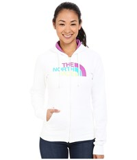 The North Face Half Dome Full Zip Hoodie Tnf White Sweet Violet Multi Women's Fleece
