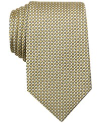 Perry Ellis Men's Badu Textured Geometric Classic Tie Yellow