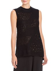 Nic Zoe Sequined Sky Tank Top Black