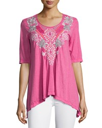 Johnny Was Dharma Embroidered Trapeze Tee Women's