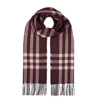 Burberry Shoes And Accessories Military Stitch Cashmere Check Scarf Female Burgundy