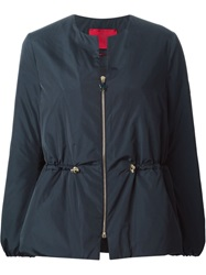 Moncler Gamme Rouge Collarless Sport Jacket Blue