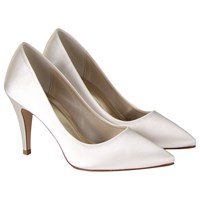 Rainbow Club Vivian Satin Point Toe Court Shoes Ivory