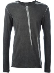 Isaac Sellam Experience Seam Detail Longsleeved T Shirt Grey