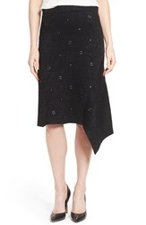 Nic Zoe Women's Grommet And Stud Detail Asymmetrical Skirt