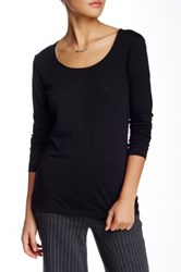 Joan Vass Long Sleeve Tee Black