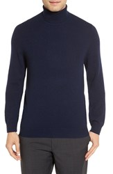 Nordstrom Men's Men's Shop Cashmere Turtleneck Sweater Navy Charcoal