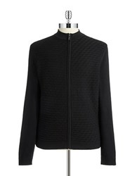 Strellson Geometric Textured Zip Up Black