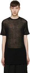 Thamanyah Black Sheer T Shirt