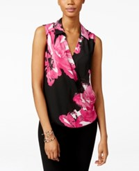 Inc International Concepts Floral Print Surplice Top Only At Macy's Botanical Placed Peony