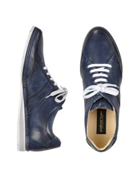 Pakerson Signature Blue Leather Sneaker Shoes