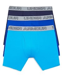 Under Armour Charged Cotton Boxer Briefs Pack Of 3 Blue Royal Midnight