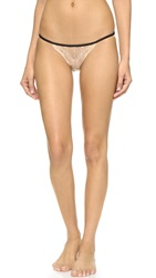 Only Hearts Club Whisper Sweet Nothings Lace Back Bikini Briefs Nude Black