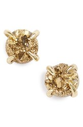 Treasure And Bond Women's Drusy Stud Earrings Gold Gold