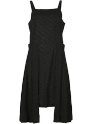 Alexandre Plokhov Side Pleat Dress Black