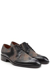 Etro Leather Brogues With Fabric Multicolor