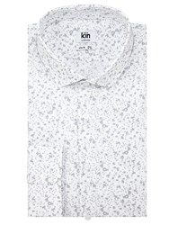 Kin By John Lewis Paint Print Slim Fit Shirt White Grey