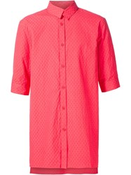 Alexandre Plokhov Cropped Sleeve Shirt Red