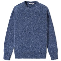 Inis Meain Donegal Crew Knit Blue