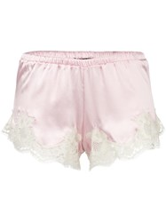 Dolce And Gabbana Lace Trim French Knickers Pink Purple