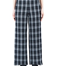 Proenza Schouler Plaid Wide Leg Pants Black