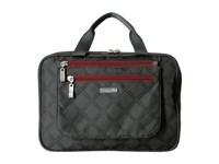 Baggallini Deluxe Travel Cosmetic Charcoal Link Cosmetic Case Black