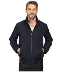 Dockers Stand Collar Bomber W Lower Zipper Pockets Navy Men's Coat