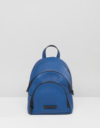 Kendall Kylie Mini Sloane Pebble Leather Backpack Cobalt Blue