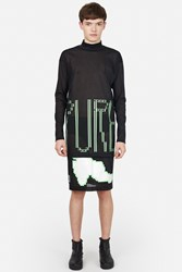 Sankuanz Graphic Layered Turtleneck Black Green