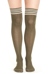 Yummie Tummie Women's By Heather Thomson Wide Waffle Knit Over The Knee Socks Brown