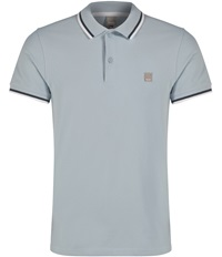Bench Competitor B Plain Polo Regular Fit Polo Shirt Light Blue