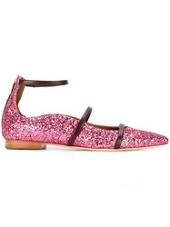 Malone Souliers Glitter Ballerinas Pink And Purple