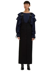Lanvin Long Overall Dress Black