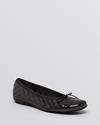 Paul Mayer Ballet Flats Cozy Quilted Black Black